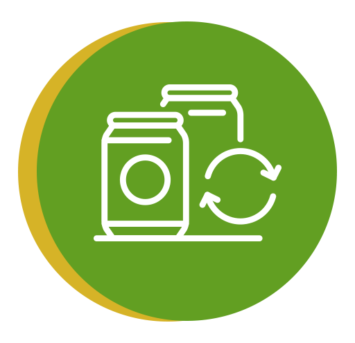 Icono que representa la gestión de residuos