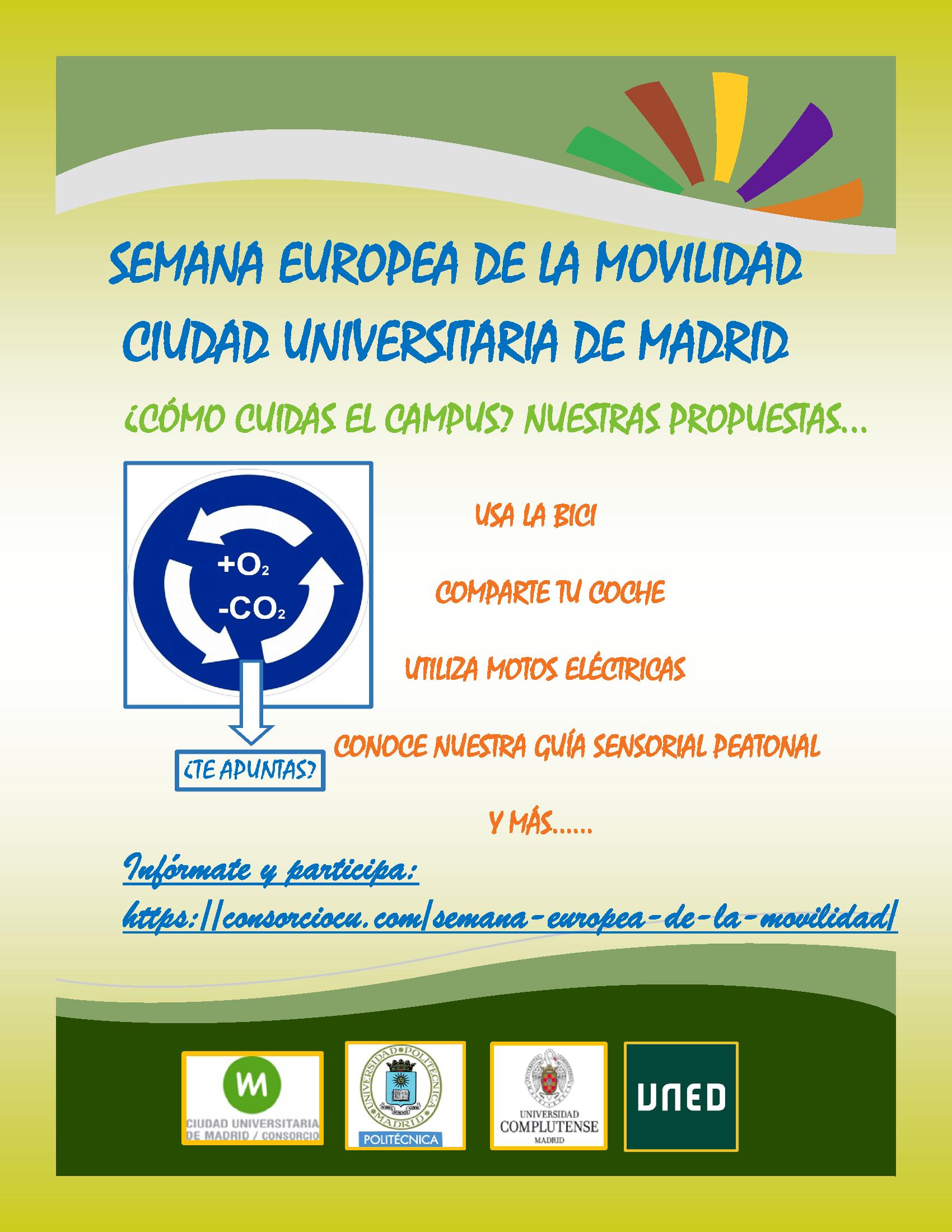 Cartel Semana Europea de la Movilidad Ciudad Universitaria de Madrid